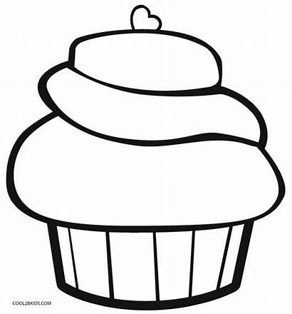 Cupcake Coloring Pages Printable Birthday Cool2bkids Colouring