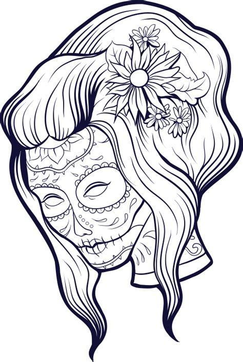 sugar skull advanced coloring  kidspressmagazinecom