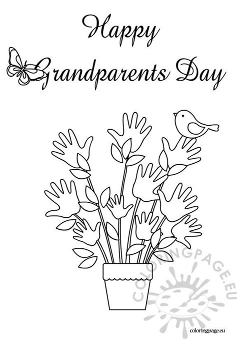 happy grandparents day coloring sheet coloring page