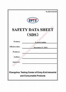 Safety data sheet template out of darkness for Material safety data sheet template free