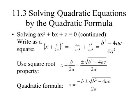 111 Solving Quadratic Equations By The Square Root Property  Ppt Video Online Download