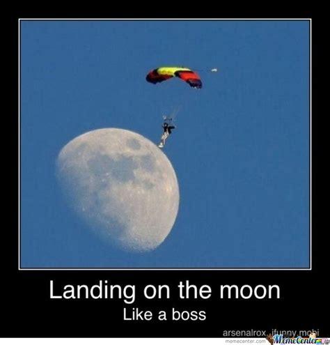 Moon Moon Meme - landing on the moon by hocox meme center