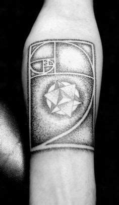 Fibonacci golden spiral tattoo WITH the star tetrahedron shape in the center | Spiral tattoos