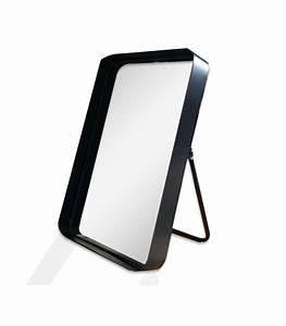 Miroir à Poser : miroir rectangulaire poser en m tal noir ~ Teatrodelosmanantiales.com Idées de Décoration