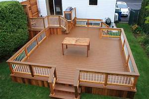 patio deck art designr contemporary deck montreal With elements to know before doing small decks ideas