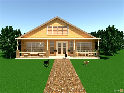 Old Kitchen Renovation Ideas - country home w porch house ideas planner 5d