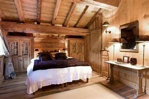 Deco Chambre Bois : d coration chambre bois montagne exemples d 39 am nagements ~ Melissatoandfro.com Idées de Décoration