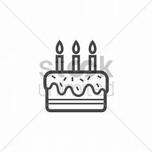 Birthday cake icon Vector Image - 1978911   StockUnlimited