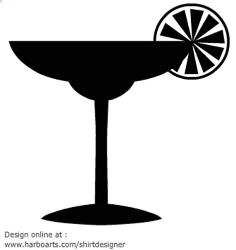 mixed drink clipart black and drink silhouette clipart