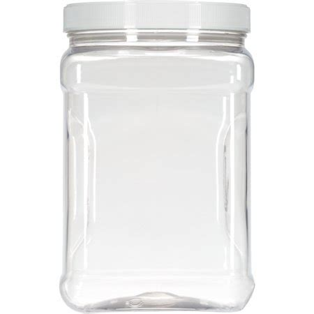 Rubbermaid Square Food Storage Canister, 2 qt., Clear