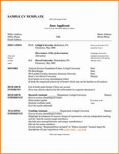 Curriculum vitae samples pdf template resume builder for Job resume template pdf