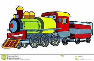 Colored Train - Illustration For The Children Stock ...