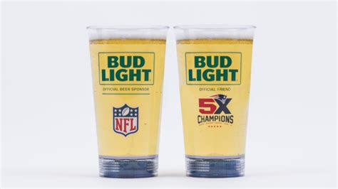 bud light touchdown glass this special bud light glass will light up after every
