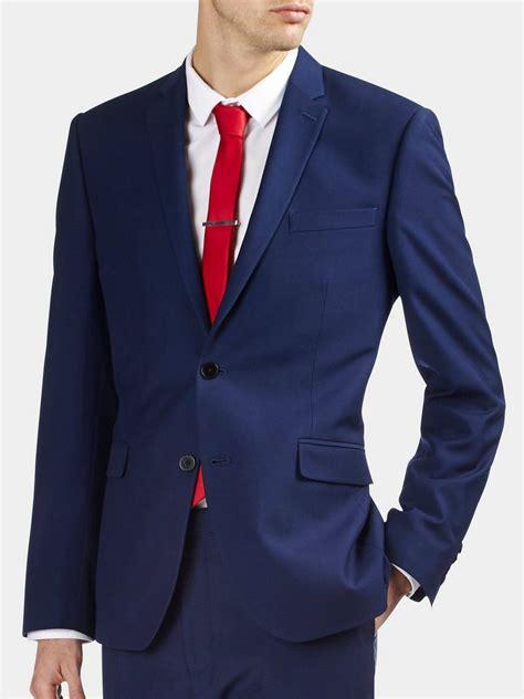 teal mens shirt indigo essential slim fit suit jacket burton
