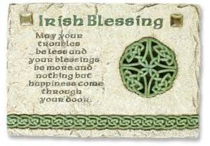 Gifts of faith pt002 irish blessing wall plaque