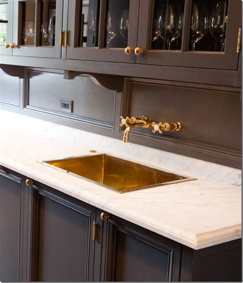 Pantry Sink Butler S Pantry Marble Countertop Brass Sink And