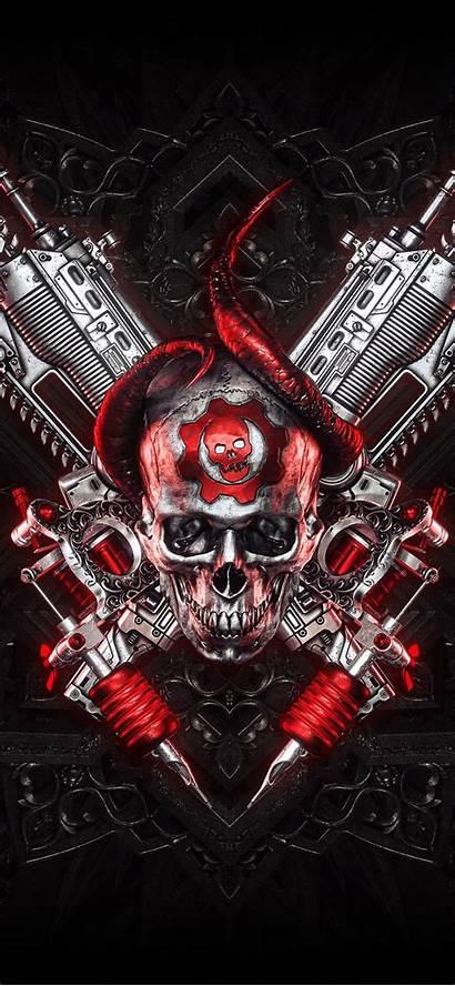 Gears War 4k Iphone Skull Wallpapers Pc