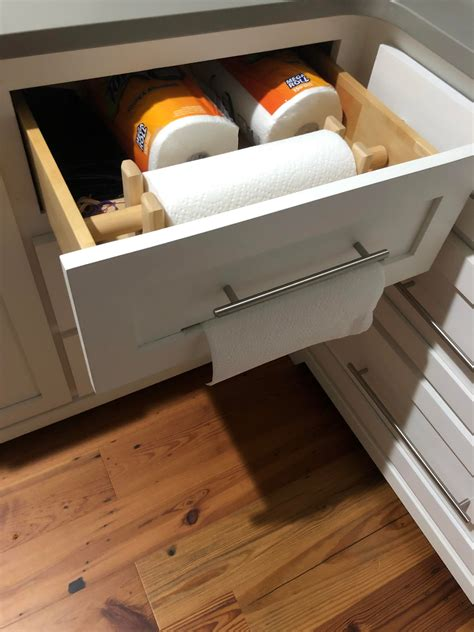 drawer   kitchen     dispense paper