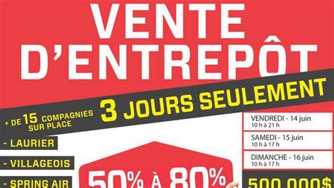 Vente Entrepôt De Mobilier 50% à 80% Lesventesca