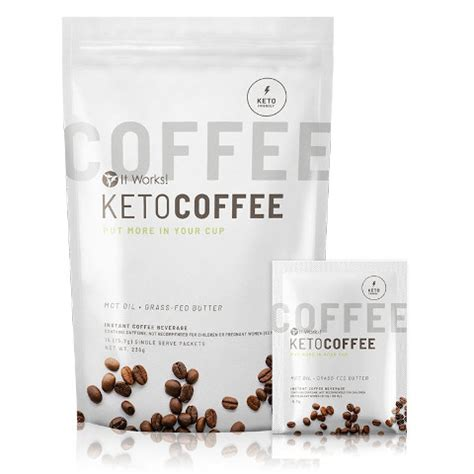 The keto coffee includes a proprietary blend of ingredients that promote thermogenesis, which includes green coffee bean and mct powder. It Works Keto Coffee - Optimiseur de cétose   It Wrap France