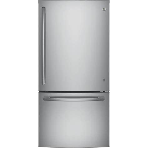 bottom drawer freezer ge 33 in w 24 9 cu ft bottom freezer refrigerator in