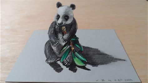 draw   panda bear trick art youtube