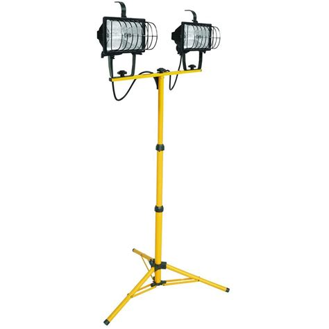 halogen l with stand lithonia lighting 2 light halogen portable tripod stand