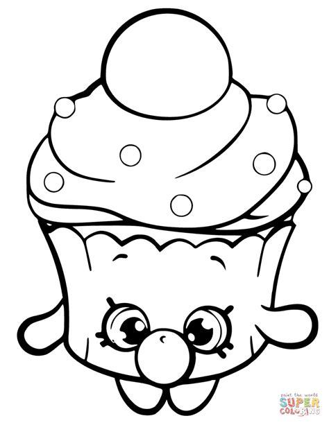 Kleurplaten Shopkin by Cupcake Shopkin Coloring Page Free Printable
