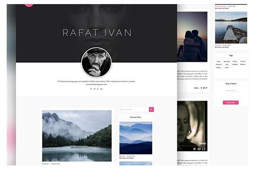 personal website design free download