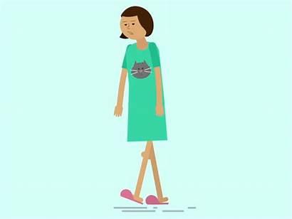 Adult Walk Cycle Animation Pajamas 2d Dribbble