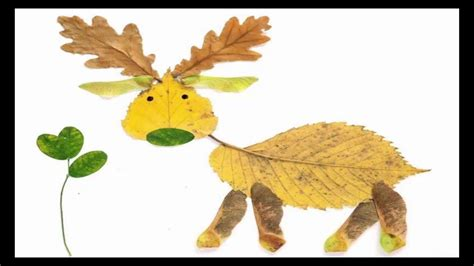 ls made from leaves how to make animal pictures with leaves leaf arts for