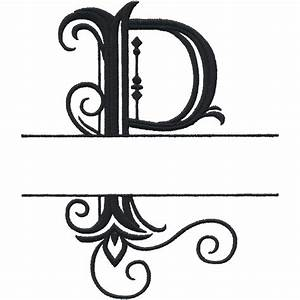 split letter monograms With monogram letter p