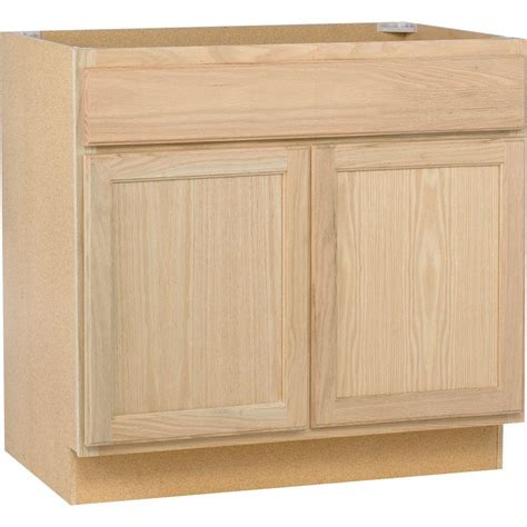 assembled xx  sink base kitchen cabinet  unfinished oak sbohd  home depot