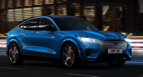 ford mustang mach   electric suv driving