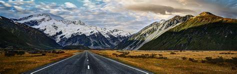 Road To Mount Cook Desktop Background Wallpaper Free Download