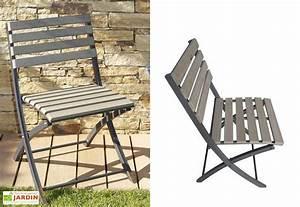 Chaise Jardin Bois : chaise jardin pliante bois composite chaise pliante compo lame claire gris anthracite dcb ~ Teatrodelosmanantiales.com Idées de Décoration