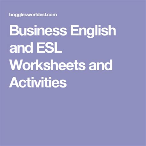 business  financial english worksheets  charts