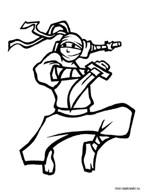ninja coloring pages  printable ninja coloring pages