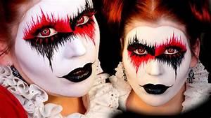 Harley Quinn Halloween Makeup Tutorial - YouTube