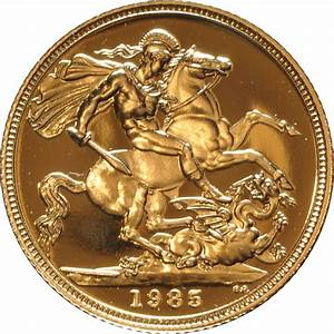 1985 Gold Proof Sovereign Four Coin Set