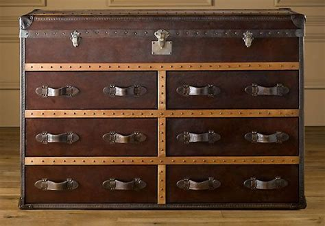 Leather Straps & Brass Nails Would Achieve A Campaign Chest/steamer Trunk Look...