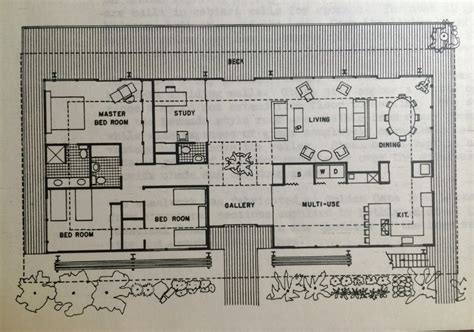 contemporary one house plans mid century modern house plan plans ranch floor interiors