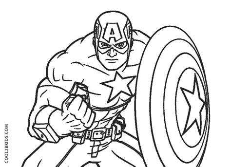 Kaptain Amerika Kleurplaat by Free Printable Captain America Coloring Pages For