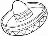Coloring Sombrero Hat Pages Mexican Mayo Printable Getdrawings Getcolorings Related Ma Colorings sketch template
