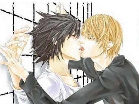 Anime Kiss Death Note Death Note Yaoi L X Light Hot Kiss Death Note Yaoi