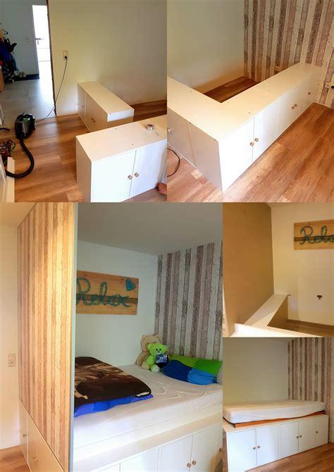 Ikea Metod Kinderzimmer by Diy Jugendzimmer Hochbett Mit Ikea K 252 Chenschr 228 Nken Als