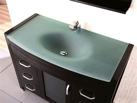 waterfall single bath vanity glass top bathgemscom