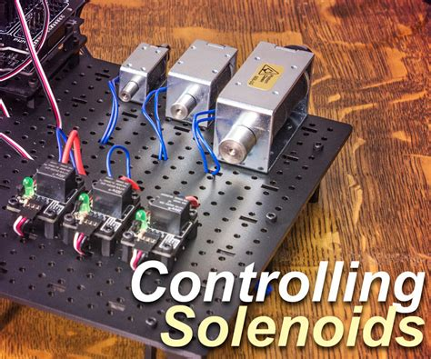 Control a Solenoid With Arduino : 5 Steps (with Pictures ...