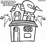 Haunted Coloring Pages Cartoon Drawing Getdrawings Coloringway sketch template