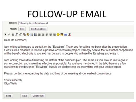 customer follow up email template follow up email